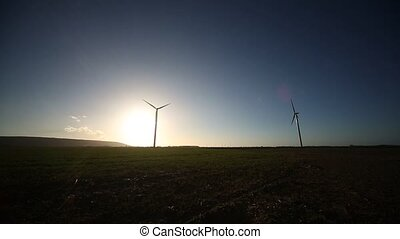 wind turbine With Sun