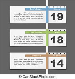Timeline Design - Timeline design template with calendar...