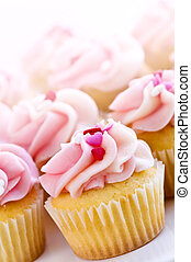 Cupcakes - Lots of tasty cupcakes with icing and sprinkles