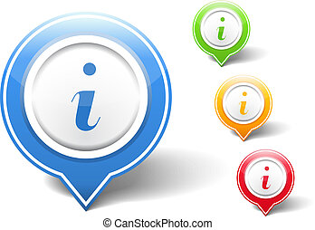 Information Icons - Information icons, vector eps10...