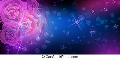 Abstract roses dark background