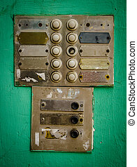 Rustic Apartment Intercom Buzzer - Rustic Old Apartment...