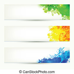 colorful headers - set of three colorful headers. Season...