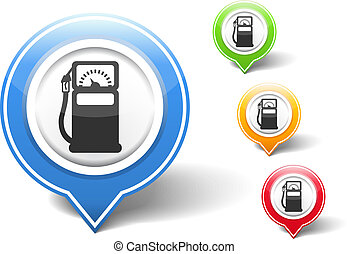 Gas Station Icon - Gas station icon, vector eps10...