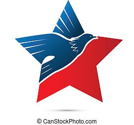 Eagle american symbol logo - Vector of eagle american symbol