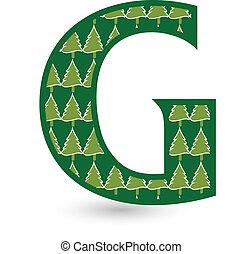 Letter G Christmas tree
