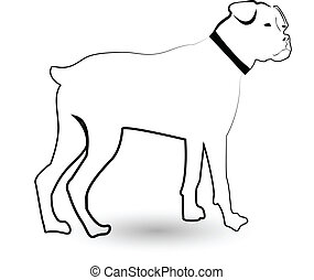 Rottweiler dog silhouette icon - Rottweiler dog silhouette...
