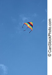 Colored paper kite in the sky