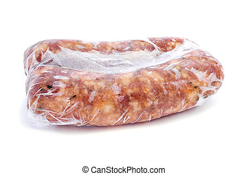 frozen spiced pork meat sausages - some frozen spiced pork...