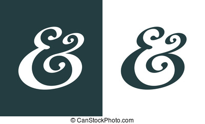 Ampersand - Hand drawn custom ampersand Decorative ampersand...