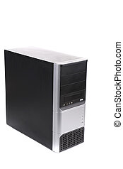 Computer system unit Isolated on a white background