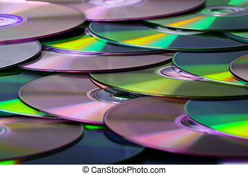 CD - A lot of compact disks - background