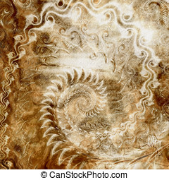 Worn Spiral Abstract - Abstract Background - Severely worn...