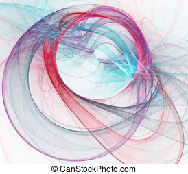 Ribbon Curves Abstract - Abstract Background - Artistic,...