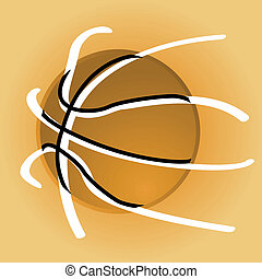 Stylish basketball - Concept illustration showing a stylized...