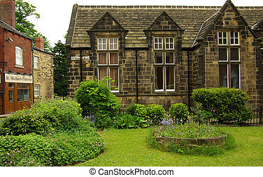 Old house in Leeds, UK in summer day