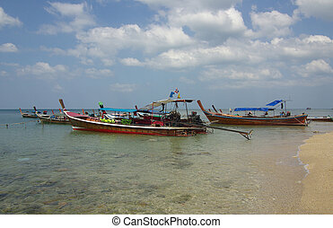 Traditional Thai boat on Ko Lanta, Thailand