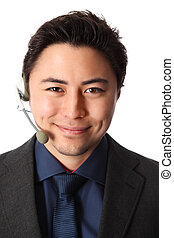 Close up of an sales person - Young and attractive business...