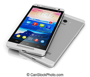 Modern touchscreen smartphone - Creative abstract mobile...