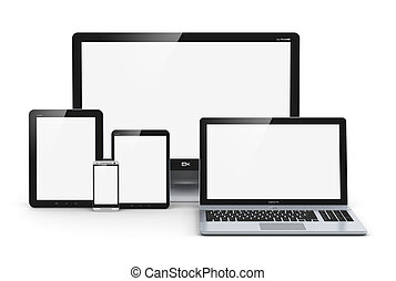 Modern computer devices - Creative abstract computer...