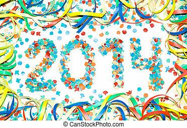 Carnival 2014 text confetti