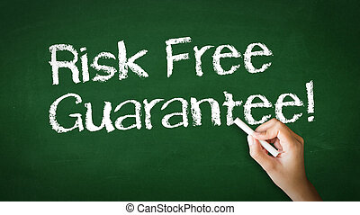 Risk Free Guarantee Chalk Illustration - A person drawing...