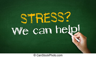 Stress we can help Chalk Illustration