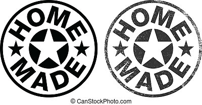 Home made rubber stamp ink - Vector illustration of a Home...