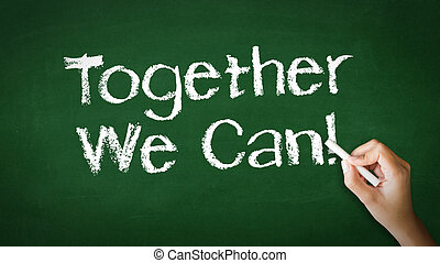 Together We Can Chalk Illustration