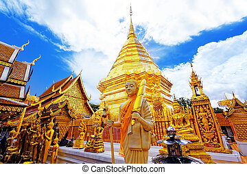 Wat Phra That Doi Suthep is a major tourist destination of...