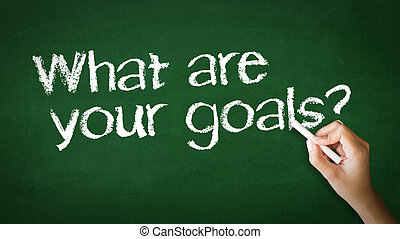 What Are your Goals Chalk Illustration - A person drawing...