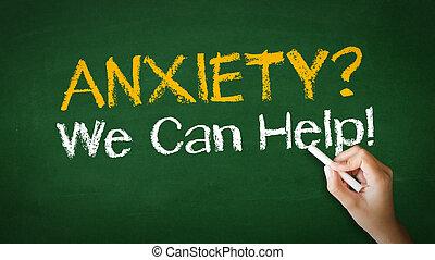 ansiedade, nós, lata, Ajuda, Giz,...