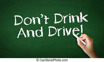Don't Drink And Drive Chalk Illustration - A person drawing...