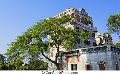 diaolou,  kaiping, vilas,  China