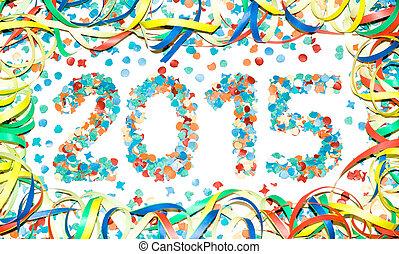 Carnival 2015 text confetti