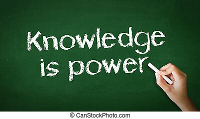 Knowledge Empowers You Chalk Illustration