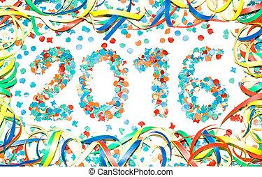 Carnival 2016 text confetti