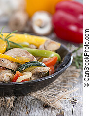 Vegetables with Chicken - Mixed Vegetables with Chicken meat...