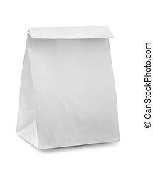 Paper bag - Blank paper bag isolated on white