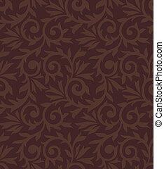 Seamless brown damask wallpaper