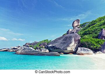 Similan Island - Hin Rue Bai landmark ,Similan Island ,...