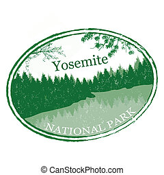 Yosemite National Park stamp