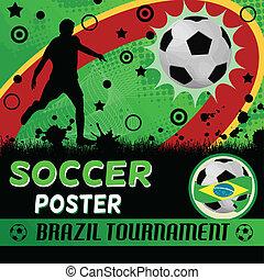 Soccer poster design