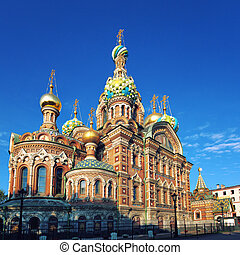 Church on Spilled Blood of Christ in Saint Petersburg,...