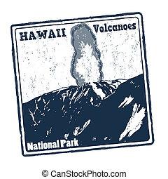 Hawaii Volcanoes stamp