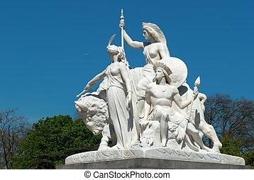 Albert Memorial, London , detail