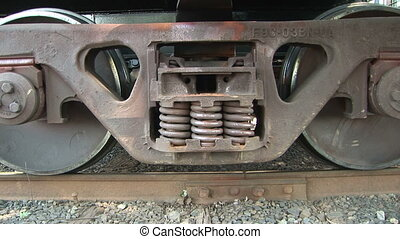 Locomotive Details - Close up, wheels of a train, Salem,...