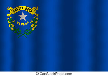 Waving Nevada State Flag