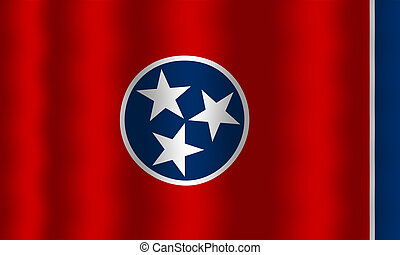 Waving Tennessee State Flag