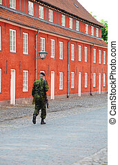 Kastellet - Soldier Walking within Kastellet